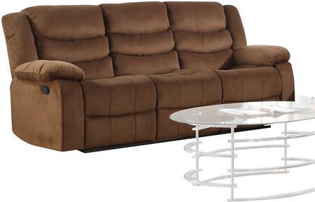 Acme Furniture Jacinta Suede Reclining Sofa 51405 Coffee