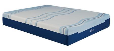 "Rest Rite IMGELL5013 Lane Contour Lux VI Liquid Gel Memory Foam 13"" Mattress White and Blue Memory Foam and Gel Memory Foam"