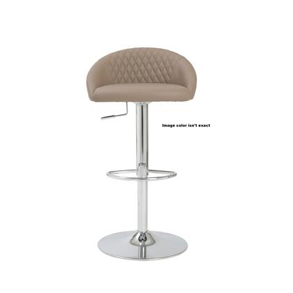 Euro Style 04368WHT Sinue Series Residential Faux Leather Upholstered Bar Stool