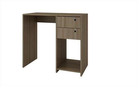 "Accentuations Pescara Collection 37AMCXX 35"" Double Drawer Desk with 2 Drawers, 1 Open Cubby and Ring Holes in"