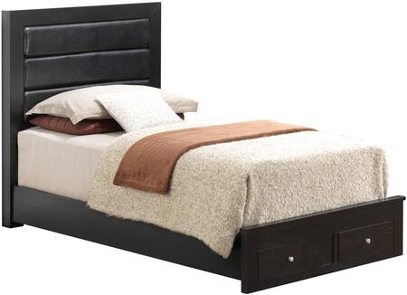 Glory Furniture G2450CTSB G2400 Series  Twin Size Storage Bed