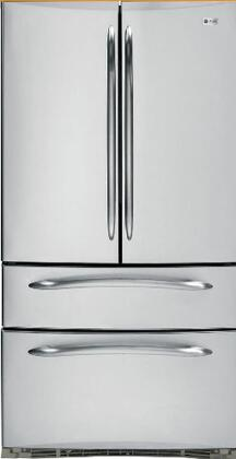 GE PGCS1NFZSS  French Door Refrigerator with 20.5 cu. ft. Capacity in Stainless Steel