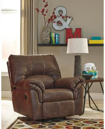 """Flash Furniture Signature Design by Ashley Bladen 40"""" Rocker Recliner with Plush Upholstered Arms, Recessed Lever Recliner, Pillow Back Cushions and Faux Leather Upholstery in"""