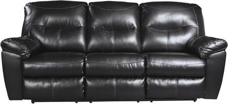 "Signature Design by Ashley 847088 Kilzer 87"" Reclining Sofa with Jumbo Stitching, Metal Frame and DuraBlend Upholstery in"