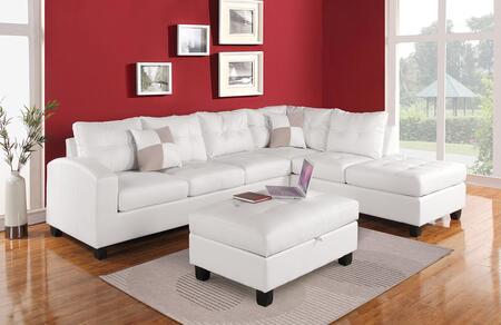 Acme Furniture 51175 Kiva Series Sofa and Chaise Bonded Leather Sofa