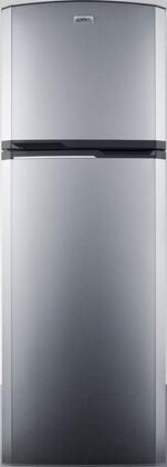 "Summit FF94xxLHD 22"" Top Freezer Refrigerator with 8.8 cu. ft. Capacity, Frost-Free Operation, Adjustable Glass Shelves, Reversible Doors, Platinum Cabinet, with Left Hinge"