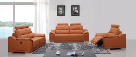 VIG Furniture VGKNE9046ORG Modern Leather Living Room Set
