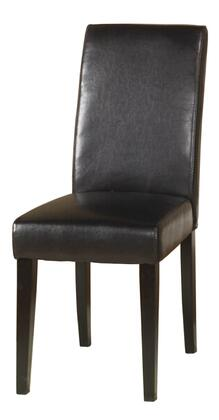 Armen Living LCMD014SIBC Modern Leather Wood Frame Dining Room Chair