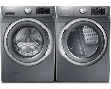Samsung Stainless Platinum Front Load Laundry Pair With