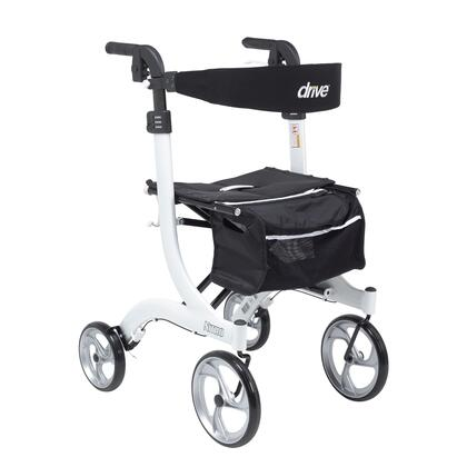 "Drive Medical Nitro Aluminum Rollator Tall Height with 36""-41"" Adjustable Handle Height, 6' Users, Brake Cable, 10"" Casters and Lightweight Aluminum Frame"