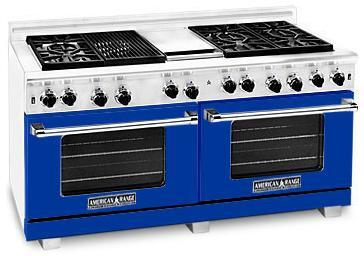 American Range ARR6062GDBU Heritage Classic Series Natural Gas Freestanding Range with Sealed Burner Cooktop, 4.8 cu. ft. Primary Oven Capacity, in Sapphire Blue