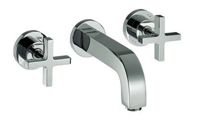 Axor 39143 Axor Citterio Widespread Wall Mount Bathroom with Metal Cross Handles: