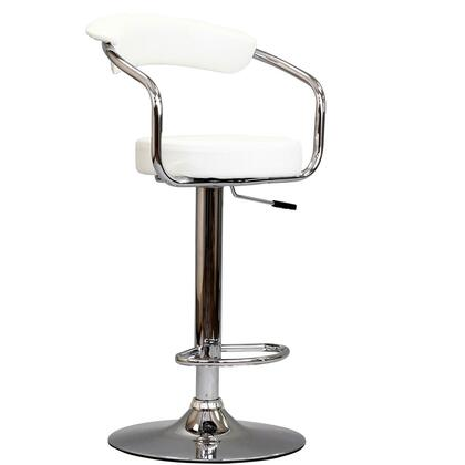 Modway EEI192WHI Diner Series Residential Leather Upholstered Bar Stool