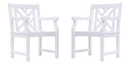 Vifah V1338  Wood Frame  Patio Arm Chair