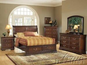 Acme Furniture 19470Q Hennessy Series  Queen Size Sleigh Bed
