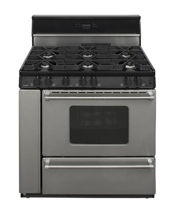 "Premier P36S3482P 36"" Gas Freestanding Range with Sealed Burner Cooktop, Broiler in Stainless Steel"