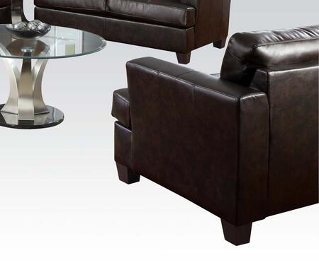 Acme Furniture 15072 Platinum Series Bonded Leather Armchair with Wood Frame in Brown
