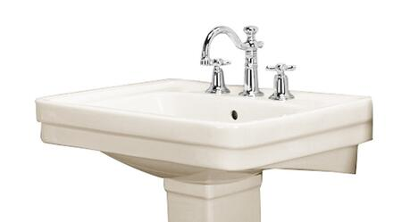 """Barclay B/3-66 Sussex 660 Basin Only, with Pre-drilled Faucet Holes, Overflow, 8.875"""" Basin Depth, and Vitreous China Construction"""