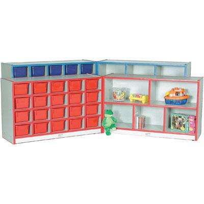 Mahar M70855 20 Cubbie Hinged Storage Units with Hasp, Contains 2 Units Without Trays in Maple Finish with Edge Color (Pre-School)