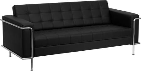 Flash Furniture ZBLESLEY8090SOFABKGG HERCULES Lesley Series Stationary Bonded Leather Sofa