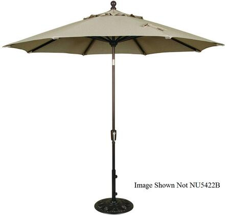 "Blue Wave NU5422 Fontana 9' Octagon Autotilt Market Umbrella with an 8-Rib Canopy, Single Wind Vent, 1.5"" Diameter Bronze Finished Aluminum Pole and Crank:"