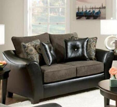 Chelsea Home Furniture 183202-X Union Loveseat with Pillows, Medium Cushion Firmness, and Fabric Upholstery