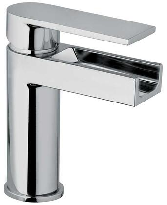 Jewel Faucets 14211WFSXX Chrome Single Blade Handle Lavatory Faucet With Waterfall Spout