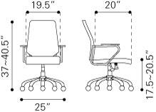"""Zuo 205166 25""""  Office Chair"""