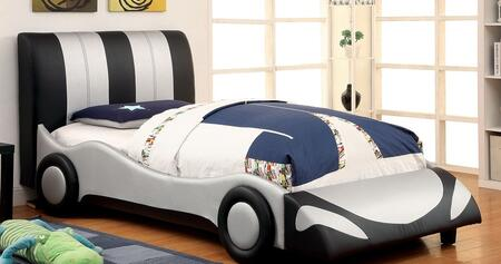 Furniture of America CM7945TBED Super Racer Series  Twin Size Bed