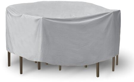 "PCI by Adco 108"" x 30"" Round Table and Chair Set Covers with UV Treated, Secured Velcro Ties and Heavy Duty Vinyl Fabric in"