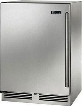 "Perlick HP24RS31xC 24"" Signature Series Compact Refrigerator with 5.2 cu. ft. Capacity, RAPIDcool System, 1000 BTU Commercial Grade Compressor and Professional Handle, in Stainless Steel with Classic Handle and"
