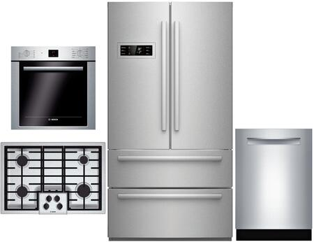 Bosch 4 Piece Kitchen Appliance Package With B21cl80sns 36