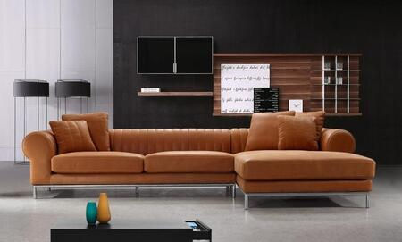 VIG Furniture VG2T1004  Sofa and Chaise Leather Sofa