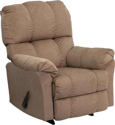 Flash Furniture AM93204172GG Contemporary Top Hat Series Contemporary Microfiber Wood Frame Rocking Recliners