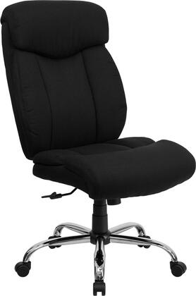 "Flash Furniture HERCULES Series GO-1235-BK-XX-GG 19.5"" 350 lb. Capacity Big & Tall Office Chair with Built-In Lumbar Support, Spring Tilt Mechanism, Chrome Finished Base, and Dual Wheel Casters in Black"