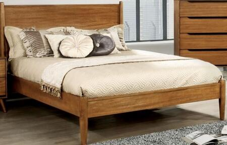 Furniture of America CM7386ACKBED Lennart Series  California King Size Panel Bed