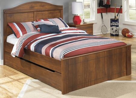 Milo Italia Vasquez BR35580757849FRSTM x Size Panel Bed with Trundle and Timber Cherry Grain in Warm Brown