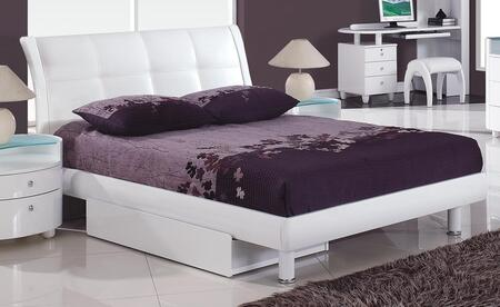 Global Furniture USA EVELYNWHKIDSFB Evelyn Kids Series Childrens Full Size Bed