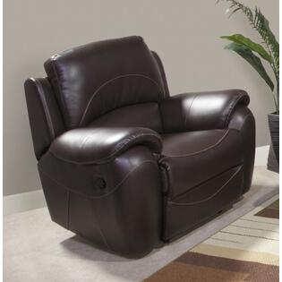 Novo Home 39001RR Excursion Series Contemporary Leather Wood Frame  Recliners