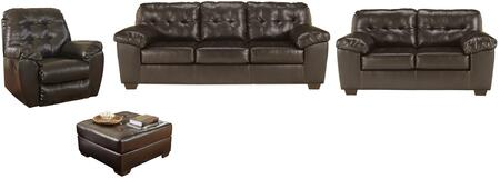 Milo Italia MI3760SLROCHOC Patricia Living Room Sets