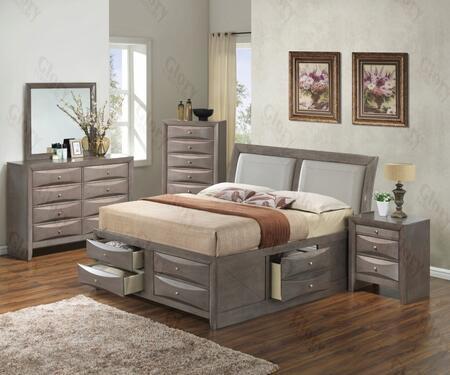 Glory Furniture G1505IKSB4DMN G1505 King Bedroom Sets