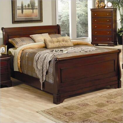 Coaster 201481 Versailles Sleigh Bed in Deep Mahogany,