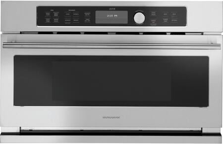 """GE Monogram ZSC220xJ 30"""" Built In Electric Single Wall Oven with 1.6 cu. ft. Capacity, Advantium Speedcook Technology, True European Convection Mode, Microwave Mode and Warming Mode, in Stainless Steel"""