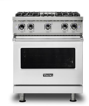 30 gas range free standing gas zoom in viking main image vgr5304bsslp 30 inch series stainless steel gas
