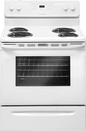 "Frigidaire FFEF3015PW 30""  Electric Freestanding Range with Coil Element Cooktop, 5.3 cu. ft. Primary Oven Capacity, Storage in White"