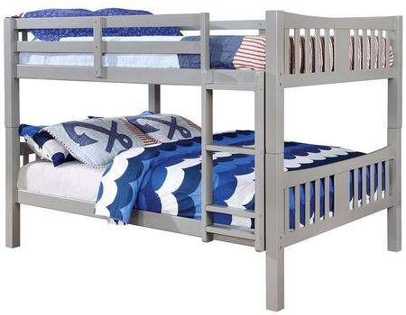 Furniture of America CMBK929FGYBED Cameron Series  Full Size Bunk Bed