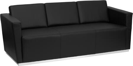 Flash Furniture ZBTRINITY8094SOFABKGG HERCULES Trinity Series Stationary Bonded Leather Sofa