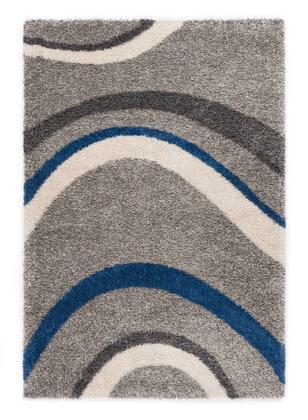 Citak Rugs 5660-025X Shoreline Collection - Drift - Slate/Teal