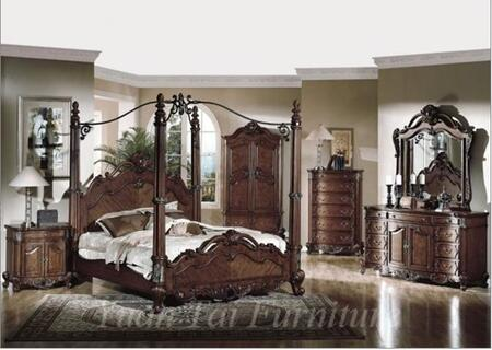 Yuan Tai CR7401K Crawford Series  King Size Poster Bed | Appliances Connection