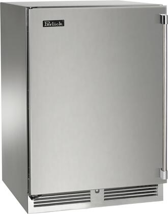 "Perlick HP24WS31x 24"" Signature Series Indoor Wine Cooler with 40 Bottle Capacity, 1000 BTU Variable Compressor, RapidCool Refrigeration System and Stainless Steel Interior, in Stainless Steel with"